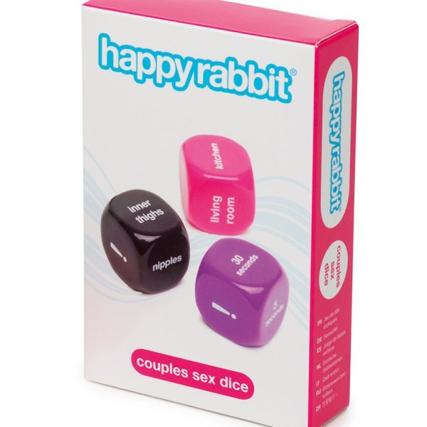 Bunny-kick your foreplay to hare-raisingly good heights with the Happy Rabbit Couples Sex Dice. Take turns rolling to uncover which erotic adventure you'll go on together and discover new