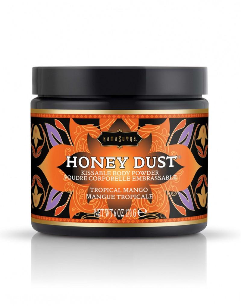 Honey Dust ? Eetbaar lichaamspoeder. Breng het voorspel naar nieuwe hoogten met Honey Dust Sweet Honey. Dit lichaamspoeder kan over het gehele lichaam worden gestrooid om daarna met het luxueuze veertje heerlijk te verdelen. Vervolgens kan het poeder langzaam worden afgelikt. Zo zacht als zijde