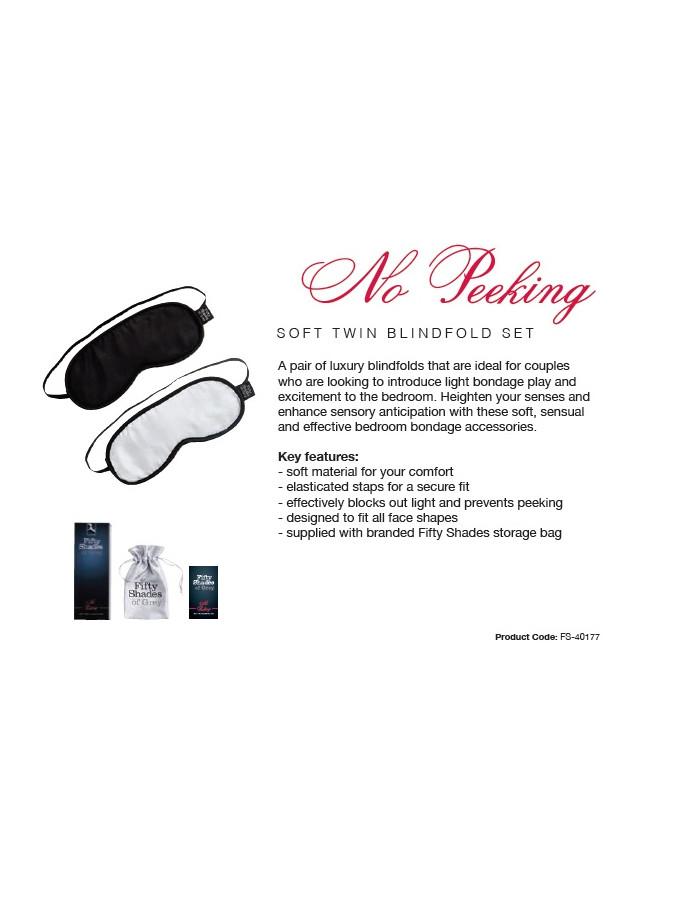 No Peeking - FSoG Soft Blindfold Twin Pack