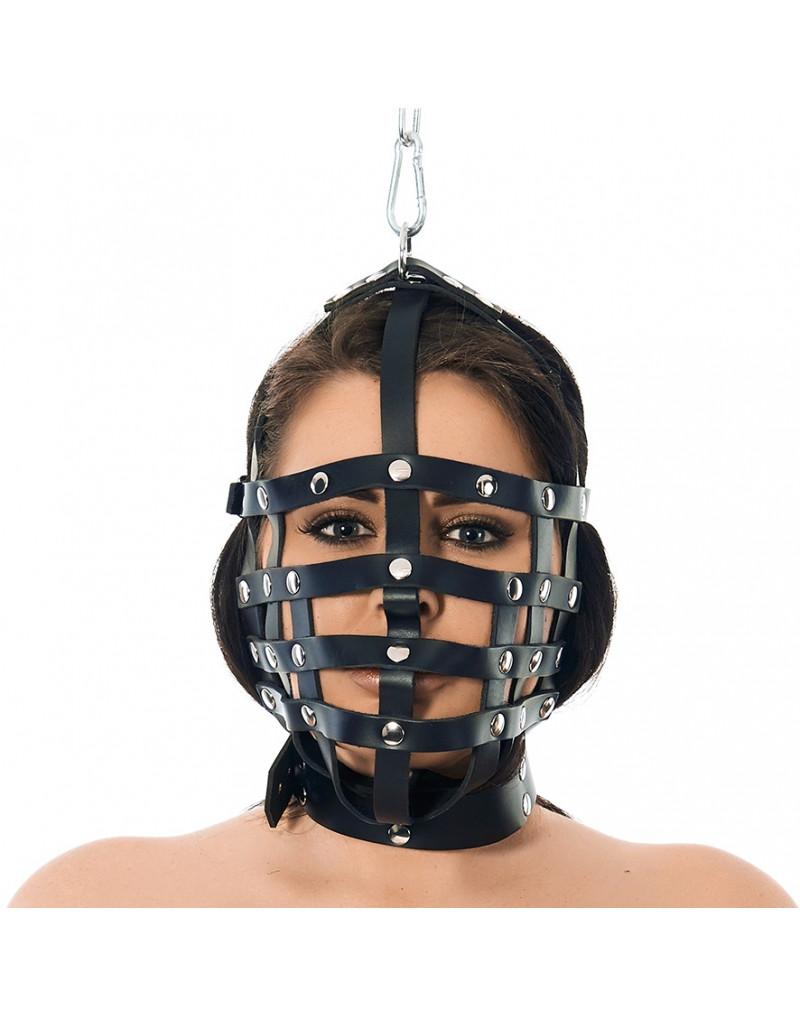 Rimba - Riemen masker met ophangring aan bovenzijde
