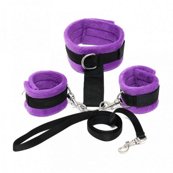 Rimba - Soft Bondage halsband met handboeien