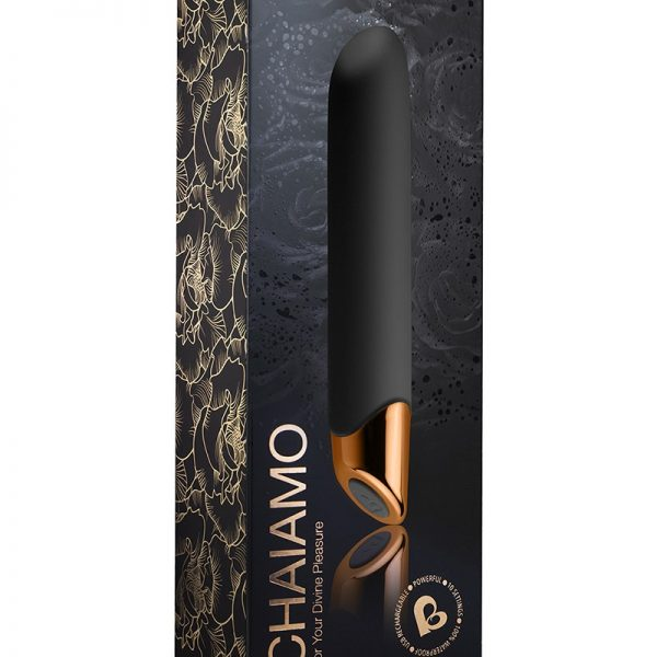 highly powerful and crafted to absolute perfection CHAIAMO has been exquisitely designed to drive you to the ultimate climax. Loose yourself in sublime sensory pleasure as CHAIAMO sends strong and deep sensual vibrations throughout your body whilst targeting your pleasure zones with intense sensations. Prepare to experience your most unforgettable orgasm.