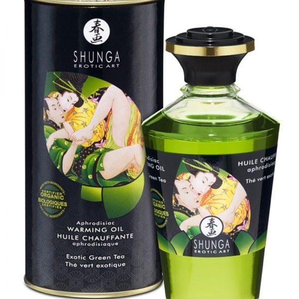 Shunga - Aphrodisiac Warming Oil - Green Tea 100 ml.