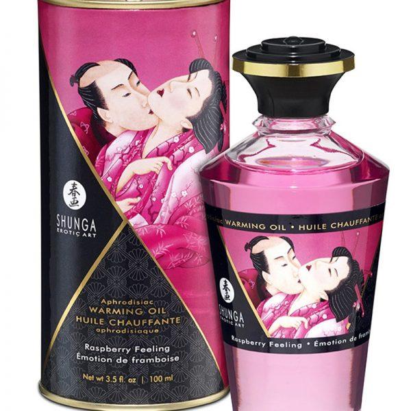 Shunga - Aphrodisiac Warming Oil - Raspberry 100 ml