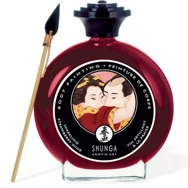 Shunga - Body Paint - Strawberry Wine 100 ml.