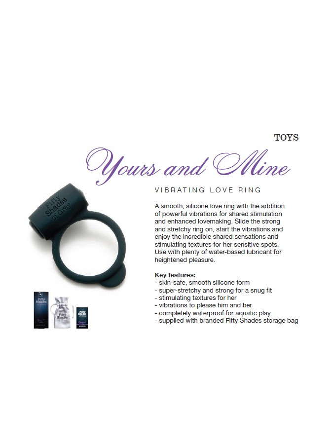 Yours and Mine - FSoG Vibrating Love Ring