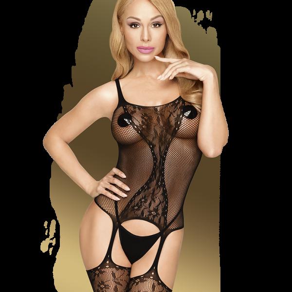Penthouse - Miss Curvy - Catsuit Miss Curvy is een mesh catsuit met elegante