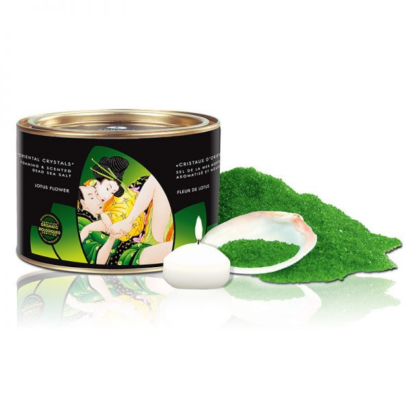 Shunga - Oriental Crystals Lotus Flowers - Dode Zee Zout - 600 g