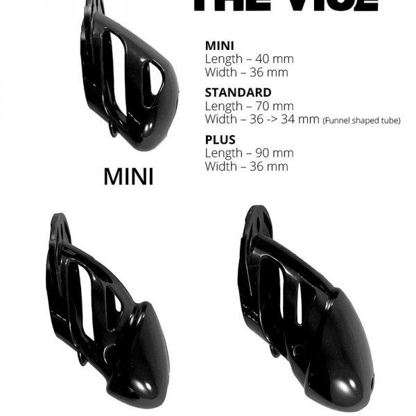 The Vice is een gepatenteerd kuisheidsartikel voor de man komt uit de USA en is daar een bestseller!Wij hebben hem in 3 maten (mini